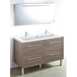 Meuble 120 cm Baltique + vasque + miroir - 1200 x 480 mm