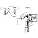 Vidage automatique 2 cuves modèle rond chromé