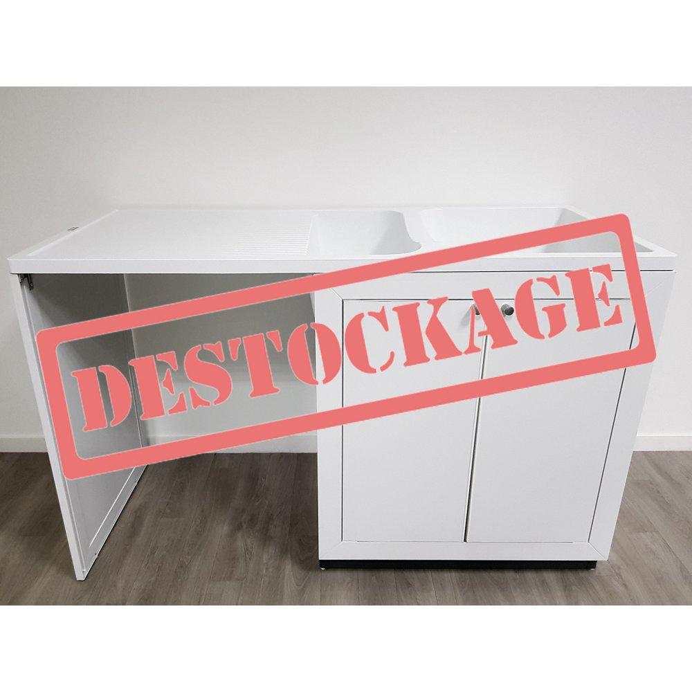 Cuisinette évier + meuble Giga 140 PVC