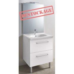 Ensemble meuble et vasque + miroir toute hauteur LED - largeur 700 mm
