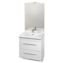 Ensemble meuble et vasque Carina + miroir toute hauteur LED - largeur 700 mm