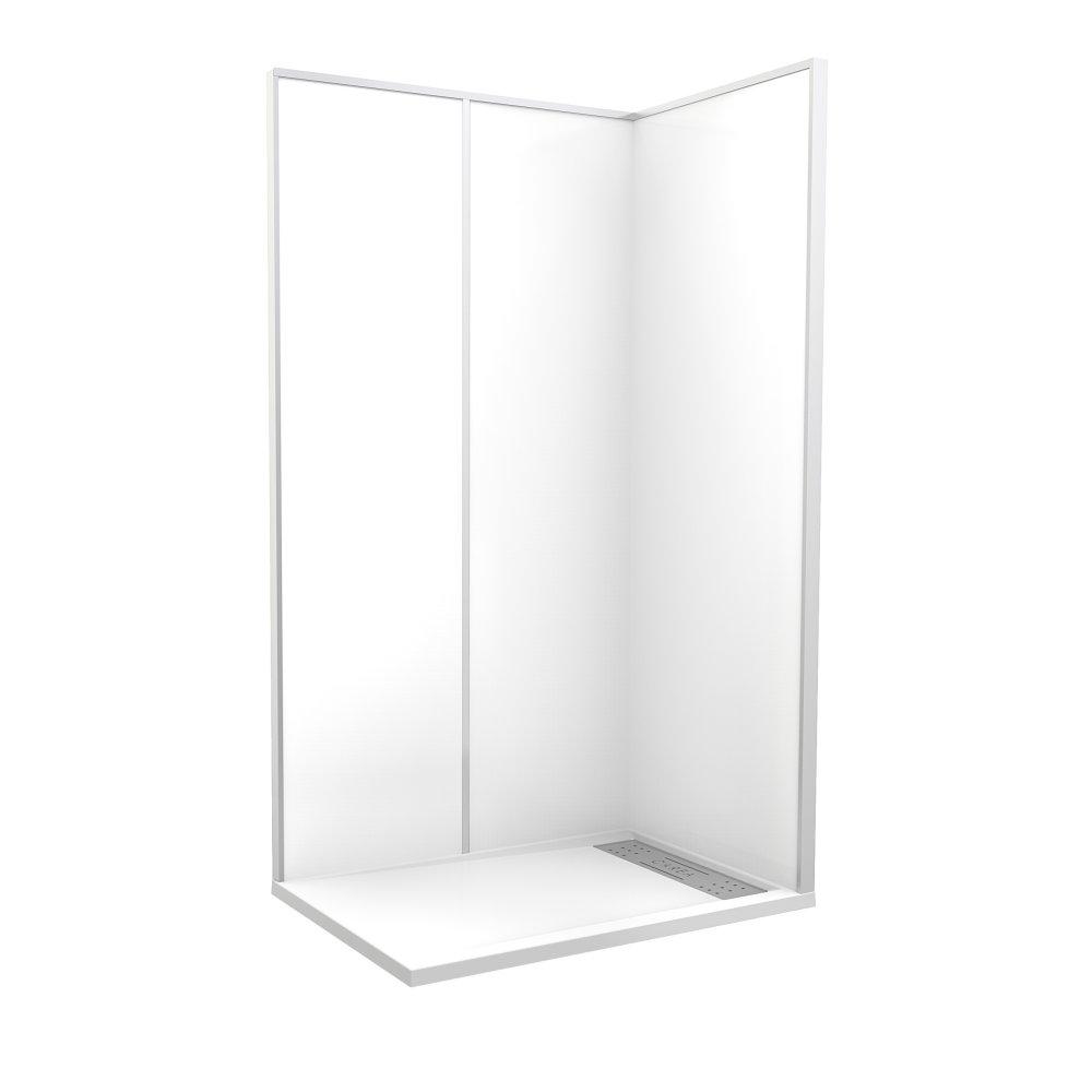 """Cabine de douche """"Espace Douche"""" 120x80x212 cm blanc uni lisse"""