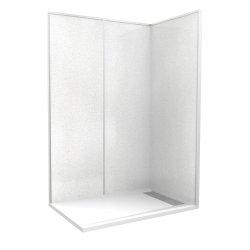 """Cabine de douche """"Espace Douche""""140x90 blanc cendré lisse"""