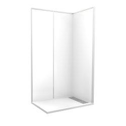 """Cabine de douche """"Espace Douche""""120x80 cm blanc uni lisse"""