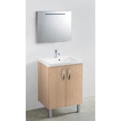 Meuble 60 cm + vasque + miroir LED - 600 x 480 mm