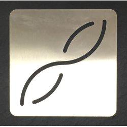 Cache bonde inox carrée pour receveur 90x90