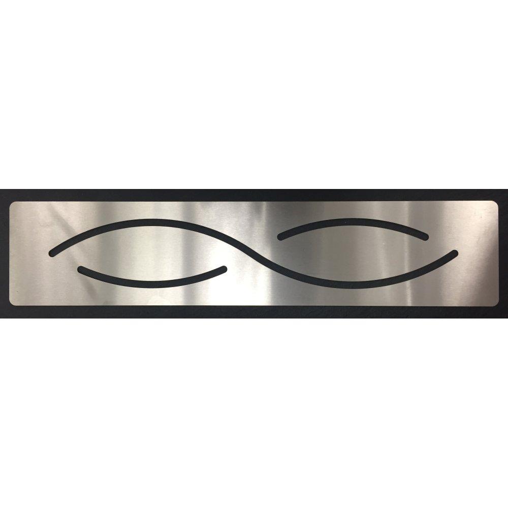 Cache bonde rectangle inox pour receveur rectangle